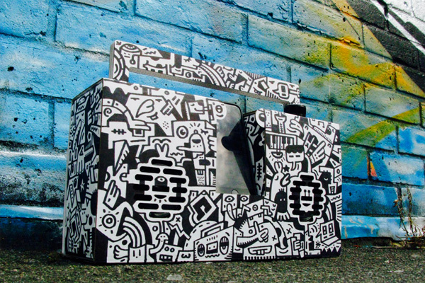Berlin Boombox Mister Phil Illustration Brighton