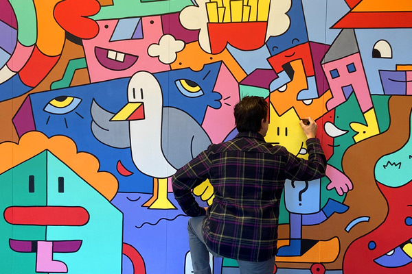 Mural Mister Phil Illustration Brighton